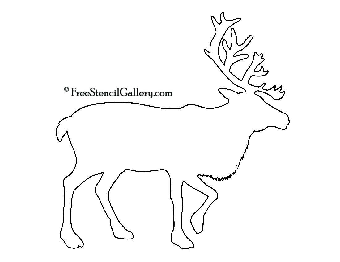 1100x850 Reindeer Silhouette Stencil Free Stencil Gallery