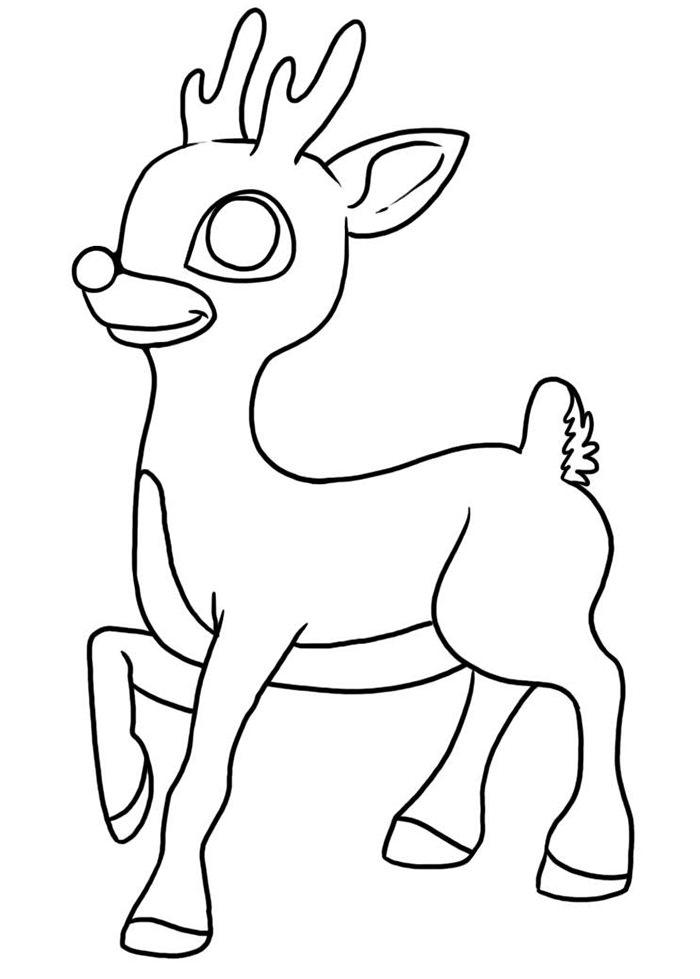 Reindeer Drawing Template at GetDrawings.com   Free for ...