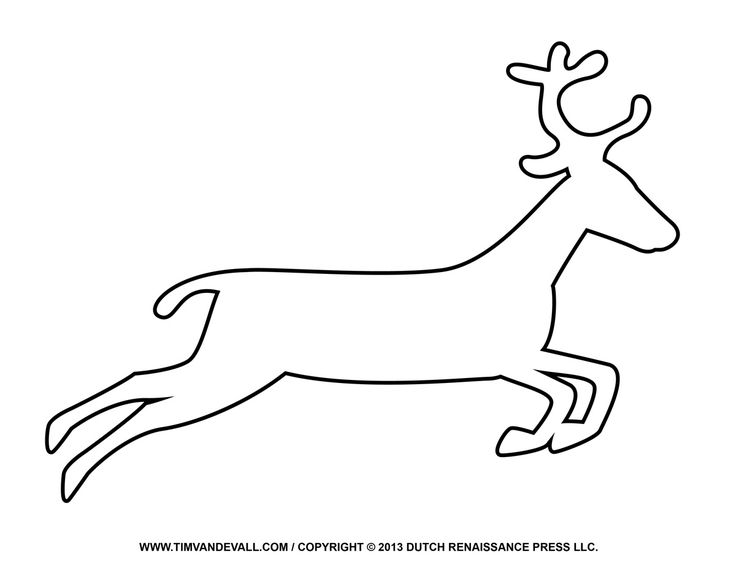 Reindeer Drawing Template At Free For Personal Use