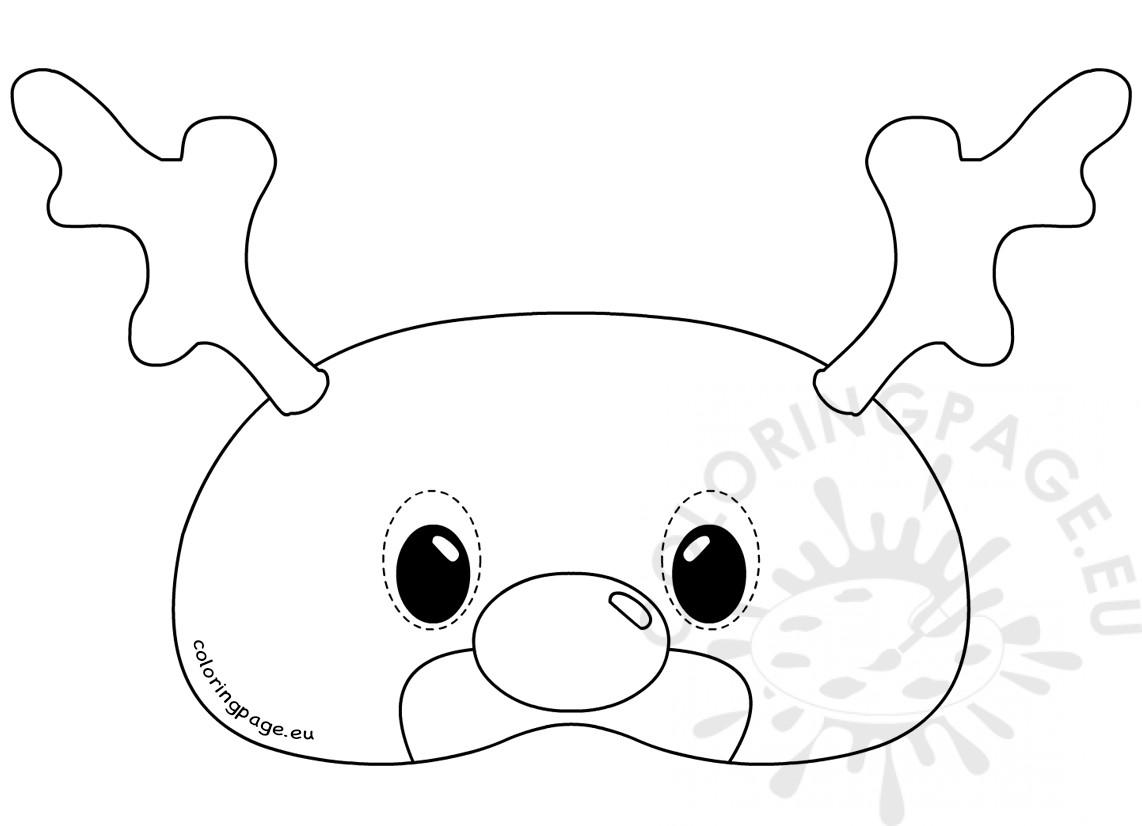 1142x826 Felt Reindeer Mask Rudolph Template Coloring Page