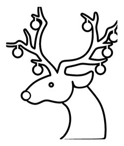 250x294 Free Pdf 13 Christmas Reindeer Coloring Pages [Face, Antlers, Cute]