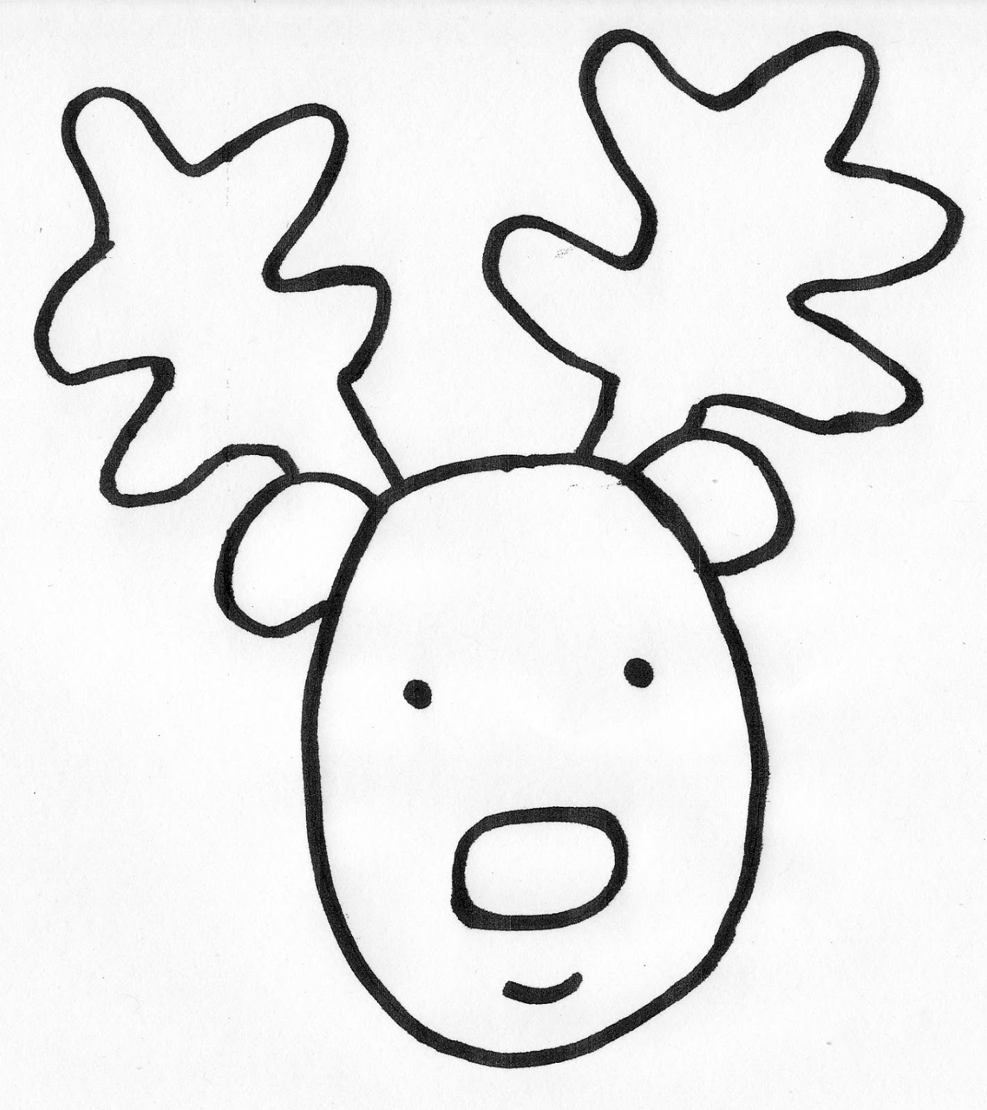 Reindeer Face Drawing at GetDrawings.com | Free for personal use ...