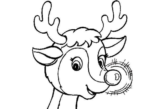 Reindeer Face Drawing At Getdrawingscom Free For Personal Use - Free-reindeer-coloring-pages