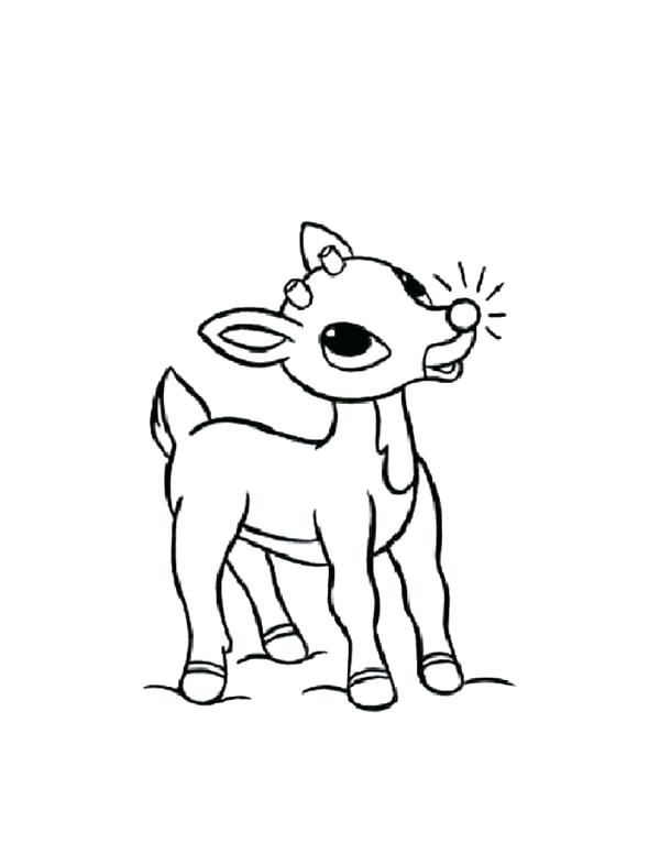 600x776 Rudolph The Red Nosed Reindeer Coloring Page The Red Nosed