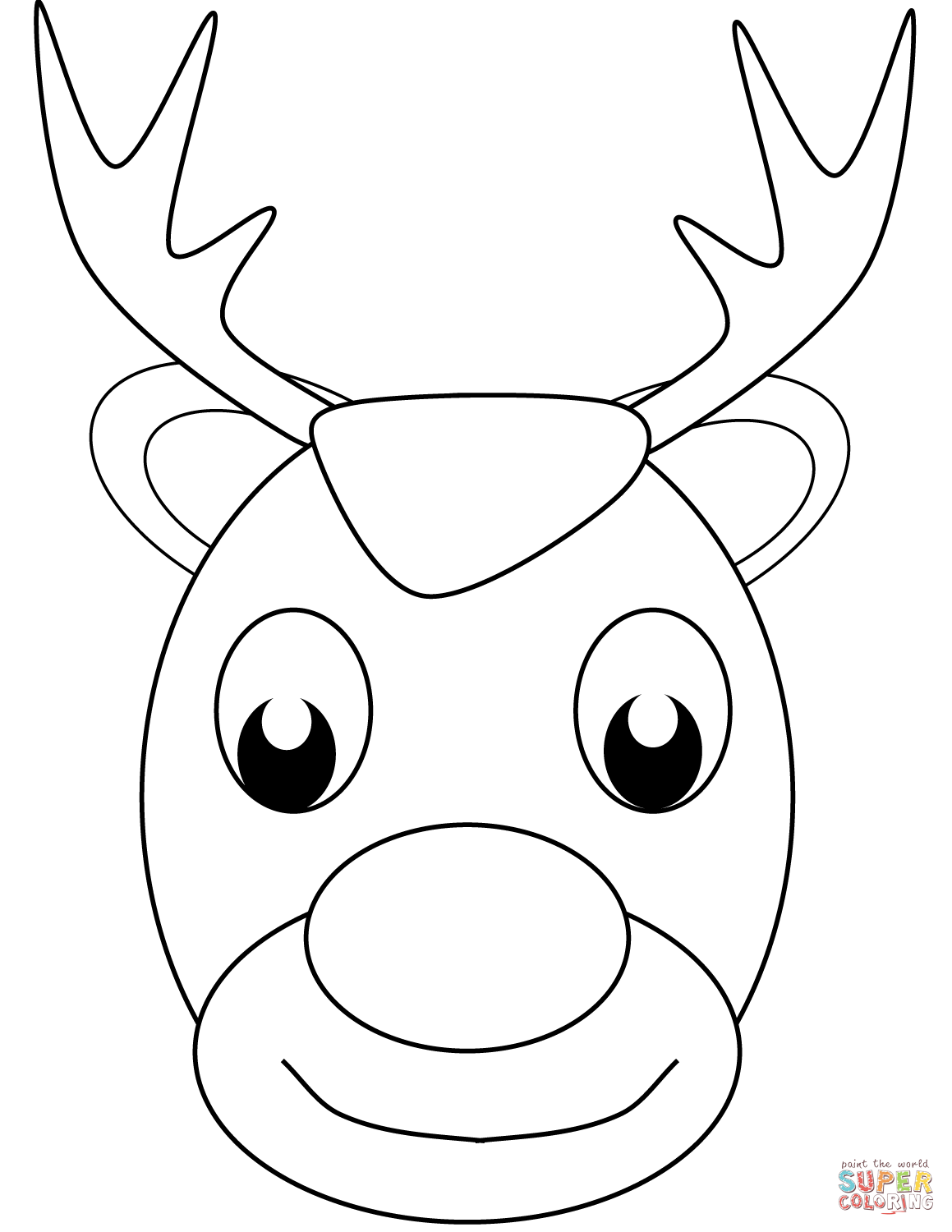1159x1500 Christmas Reindeer Face Coloring Page Free Printable Coloring Pages