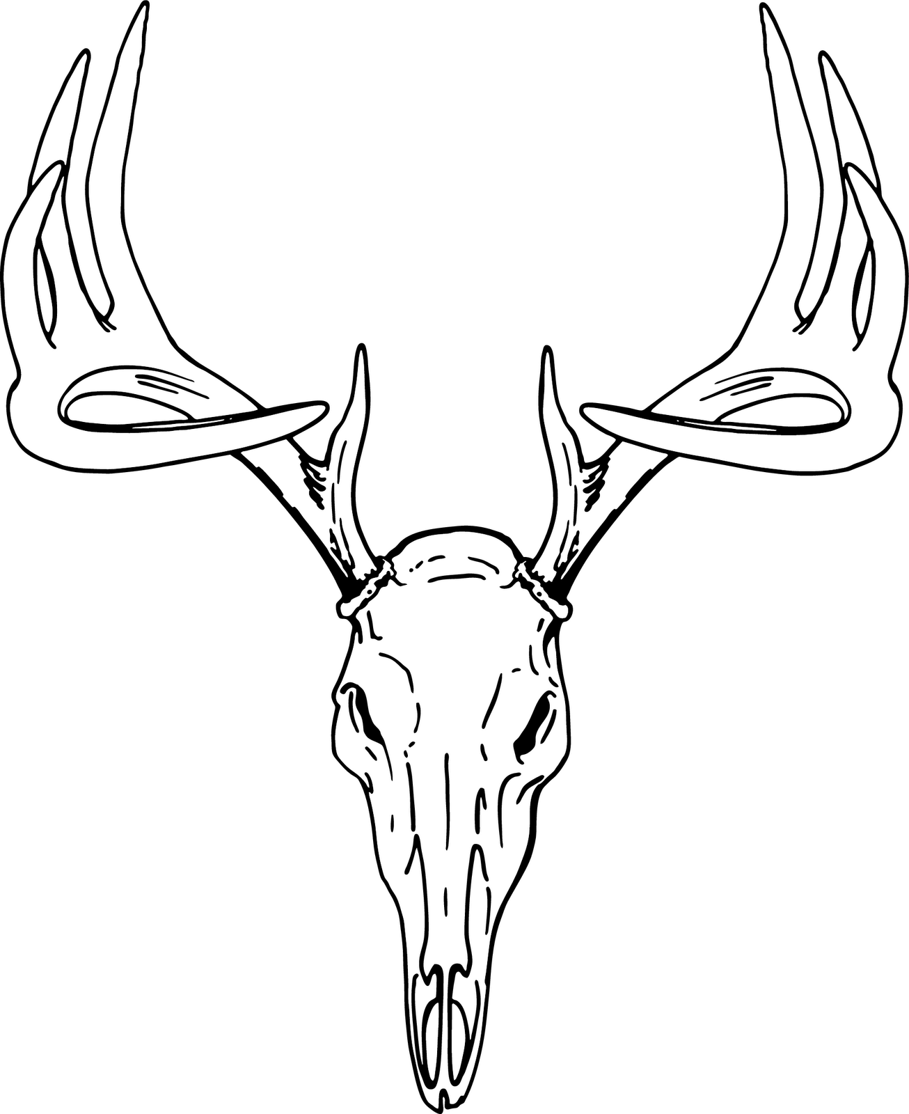 1306x1600 Deer Head Clip Art Free Vector In Open Office Drawing Svg Svg