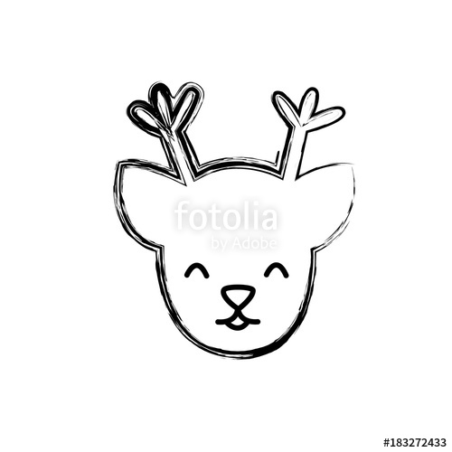 500x500 Figure Reindeer Head To Merry Christmas Decoration Stock Image