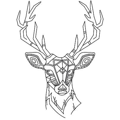 406x406 31 Cute Deer Tattoo Designs
