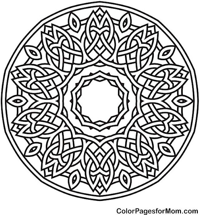 640x688 Adult Mandala Coloring Page For Stress Relief Mandala Coloring