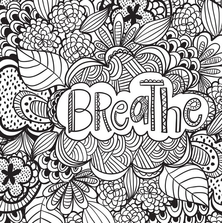 736x737 Stress Relief Coloring Pages Breathe Free