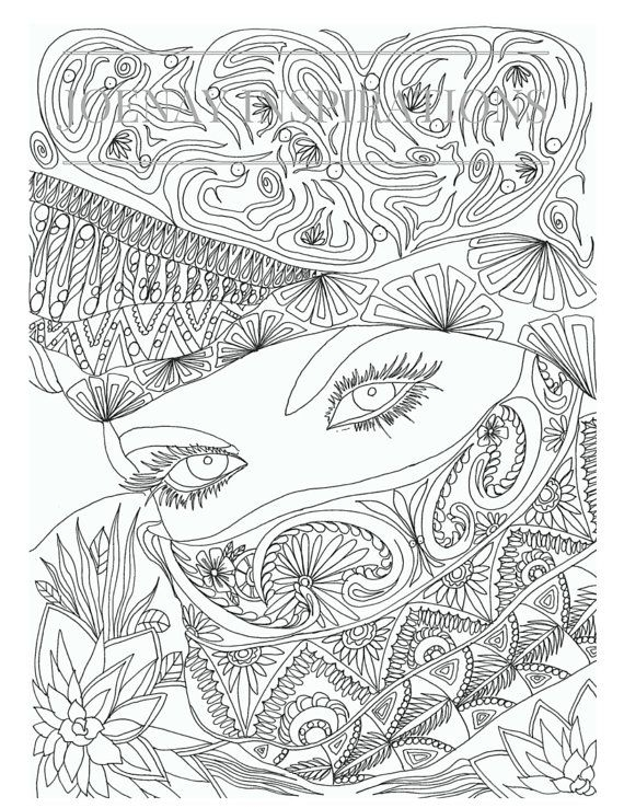 570x738 Stress Relief Coloring Pages Printable