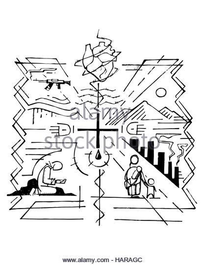 416x540 Religious Symbols Drawing Stock Photos Amp Religious Symbols Drawing
