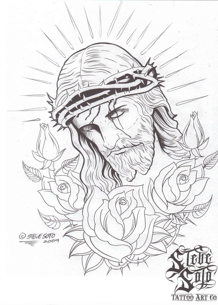 Religious Tattoo Drawing