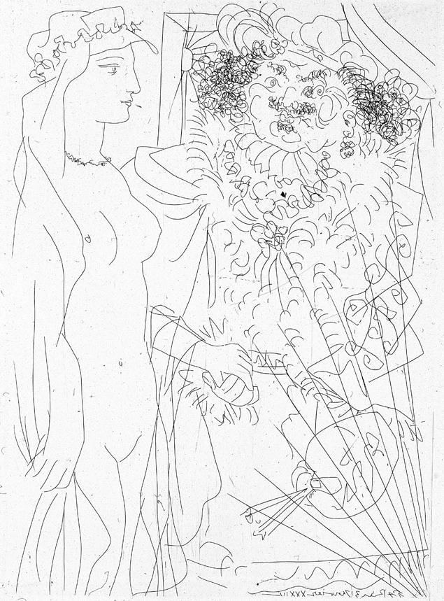 635x859 Pablo Picasso. Rembrandt Y Mujer Con Velo. Suite Vollard. Pablo
