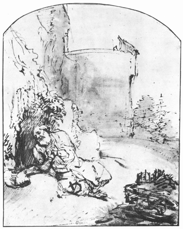 2395x3000 Rembrandt Harmensz. Van Rijn Jona Vor Der Stadtmauer Ninives