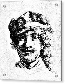 208x270 Rembrandt Self Portrait Engraving Drawing By