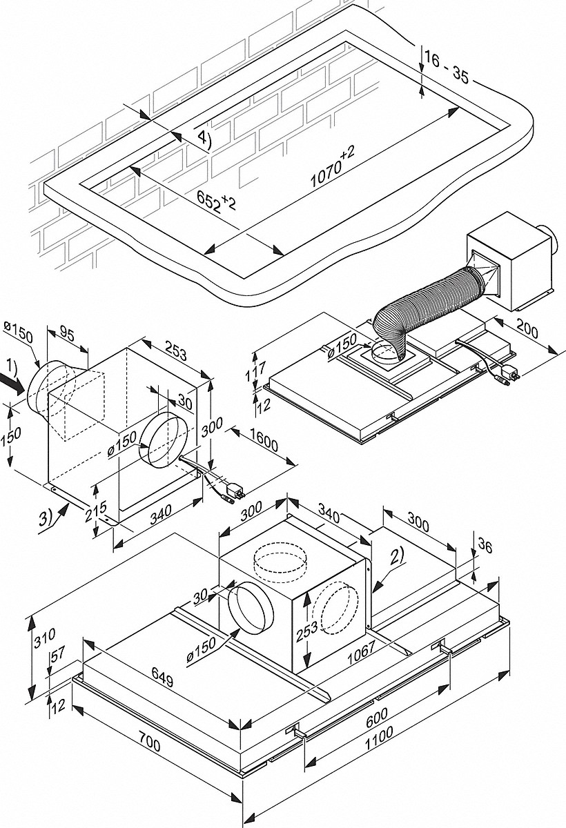 Remote Control Drawing At Free For Personal Use Wiring Diagram Dwgs 820x1200 Miele Hoods Da 2906 Ceiling Extractor