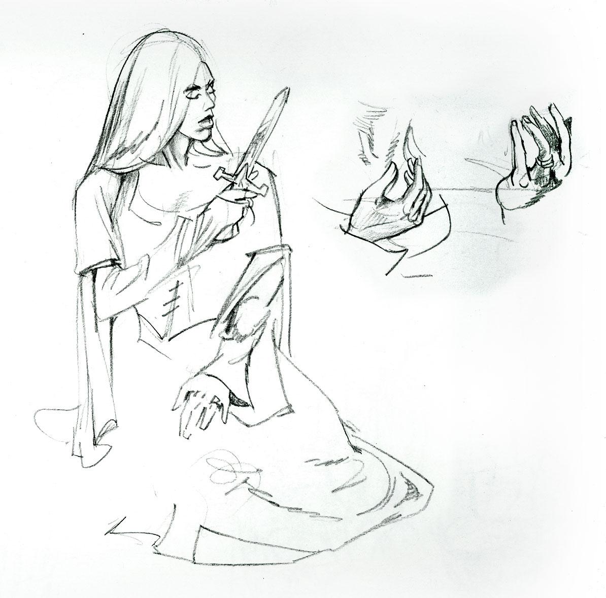 1194x1179 The Art Of Emery Miller Figure Drawing Renaissance Woman