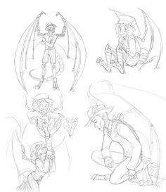 236x273 The Gargoyles Drawing Esmeralda Disney Renaissance