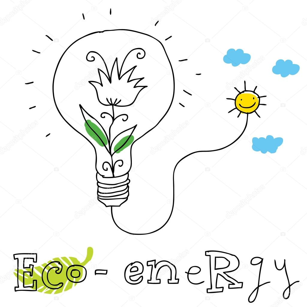 1024x1024 Eco Energy, Vector Drawing Stock Vector Svetabl