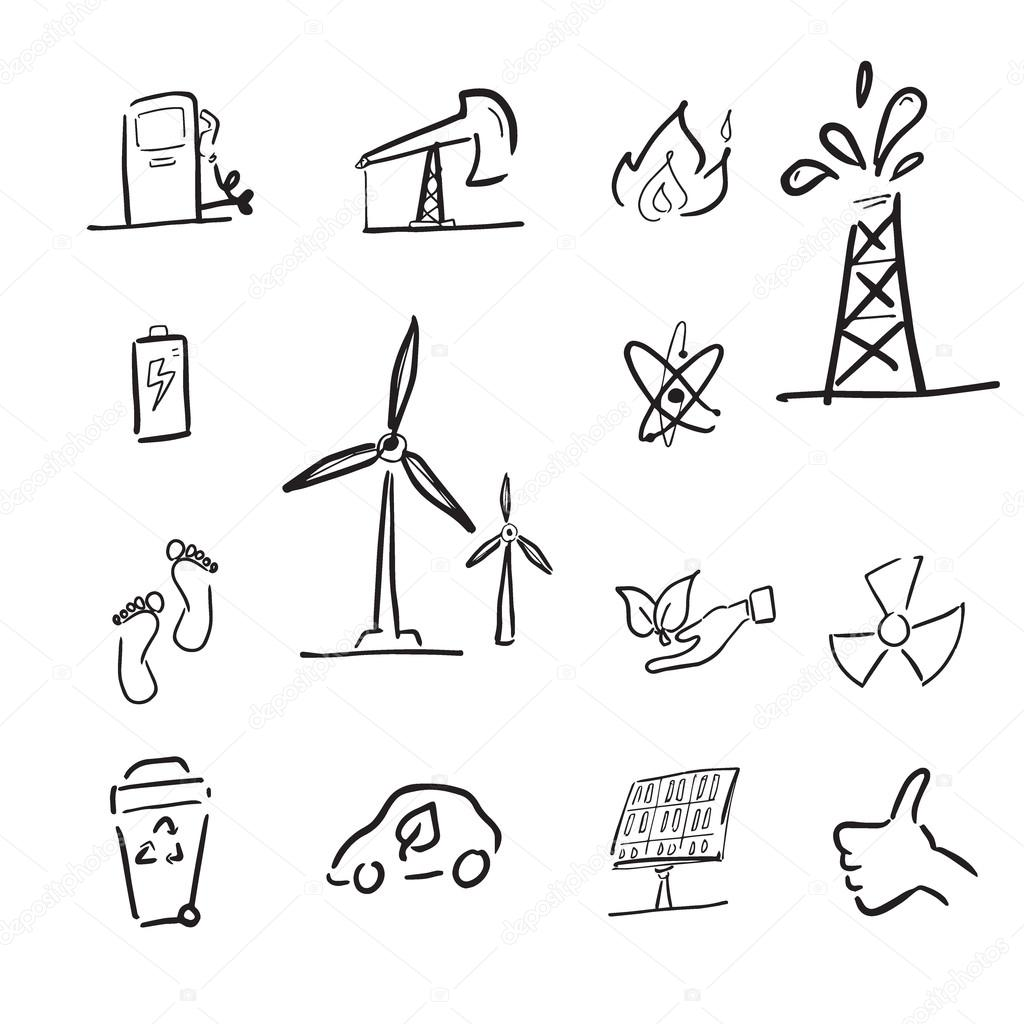 1024x1024 Petroleum And Renewable Energy Cartoon Stock Vector Tawesit