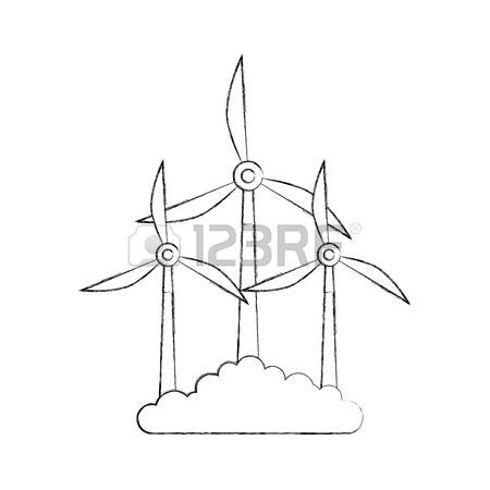 450x450 Alternative Sources Of Energy Renewable Windmills Vector