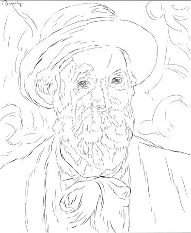 394x480 Pierre Auguste Renoir Self Portrait Coloring Page From Famous