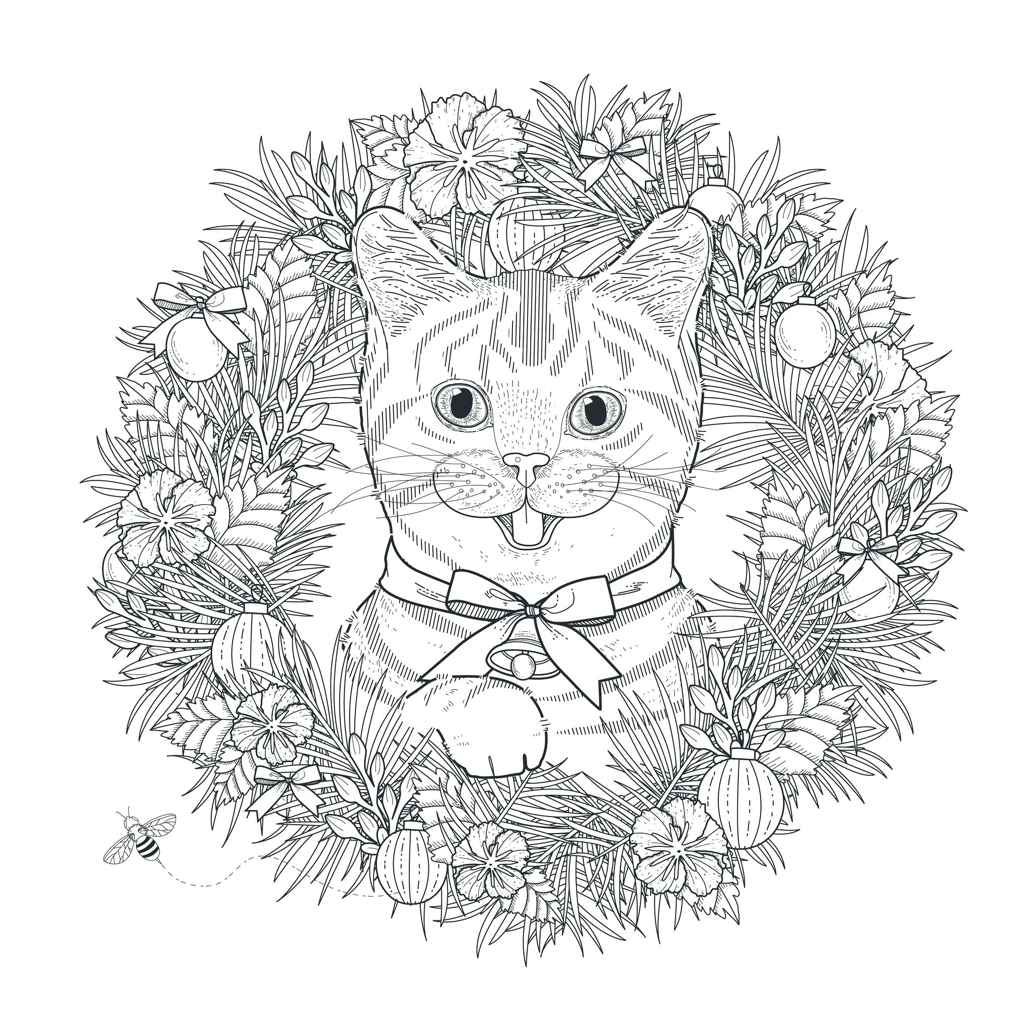 2048x2048 Coloring Renoir Coloring Pages Page Mandala Cat By Free To Print