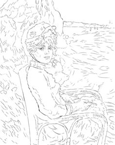 236x298 Coloring Renoir Terasse, From The Gallery Art Adult Coloring