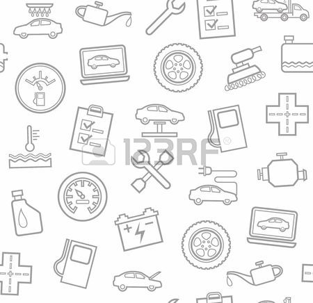 450x436 Repair And Maintenance Of Vehicles, Seamless Gray Blue Background