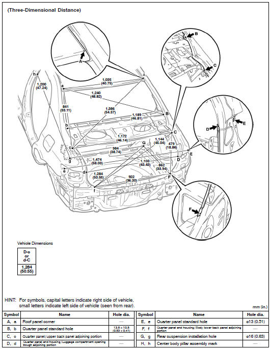 530x686 Toyota Corolla Body Repair Manual Body Dimension Drawings