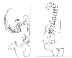 236x192 Blind Contour Drawings Tableau Drawings, Contour