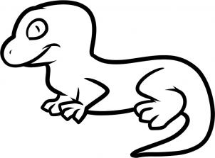 302x223 How To Draw How To Draw A Lizard For Kids