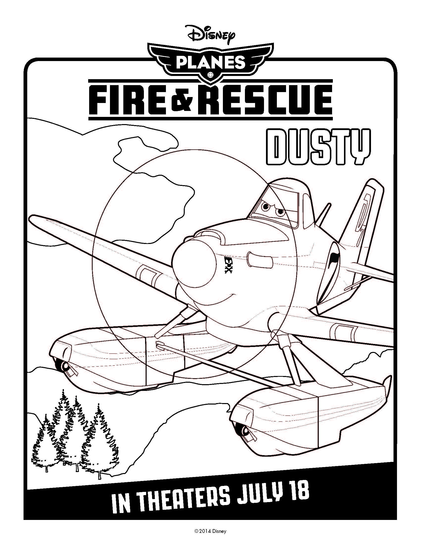 1700x2200 Disney's Planes Fire Amp Rescue Coloring Pages Punch Needle