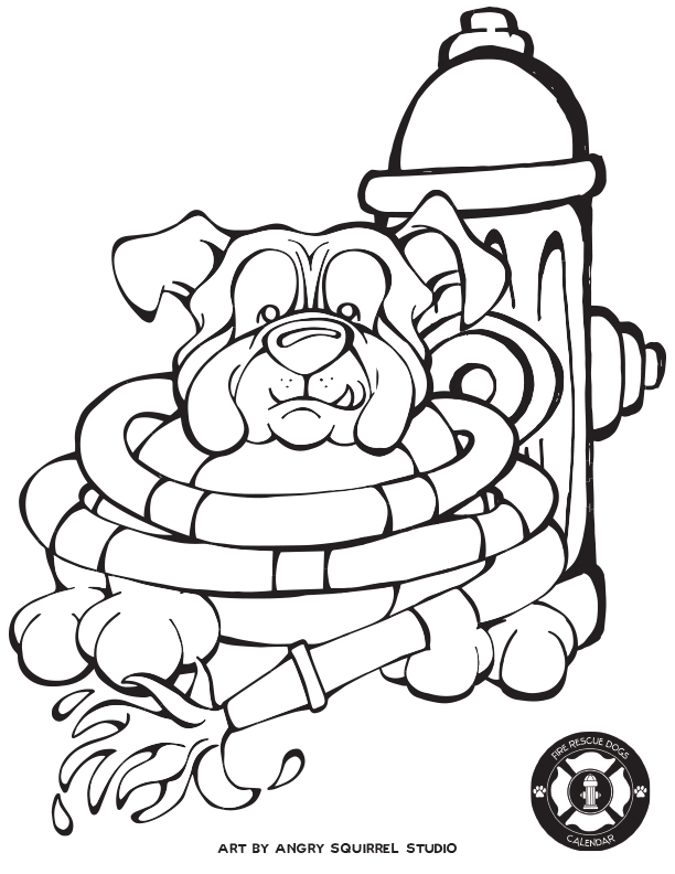 612x792 Free Coloring Pages Fire Rescue Dogs Angry Squirrel Studio
