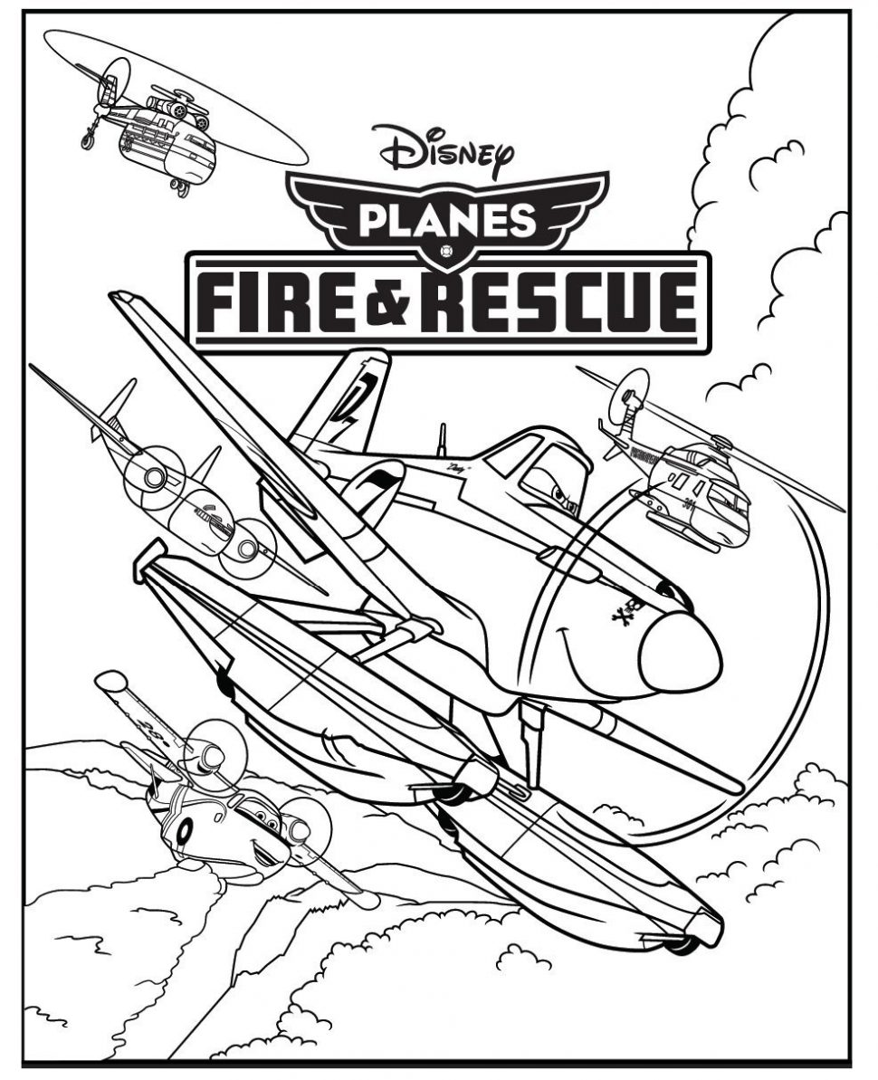 970x1193 Coloring Dipper From Planes Fire And Rescue Coloring Sheet