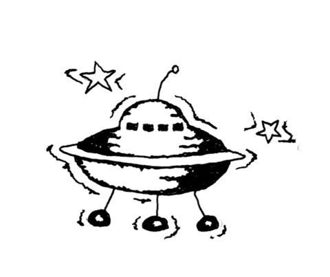 480x403 Moon Alien Research Vehicle With Stars Coloring Page