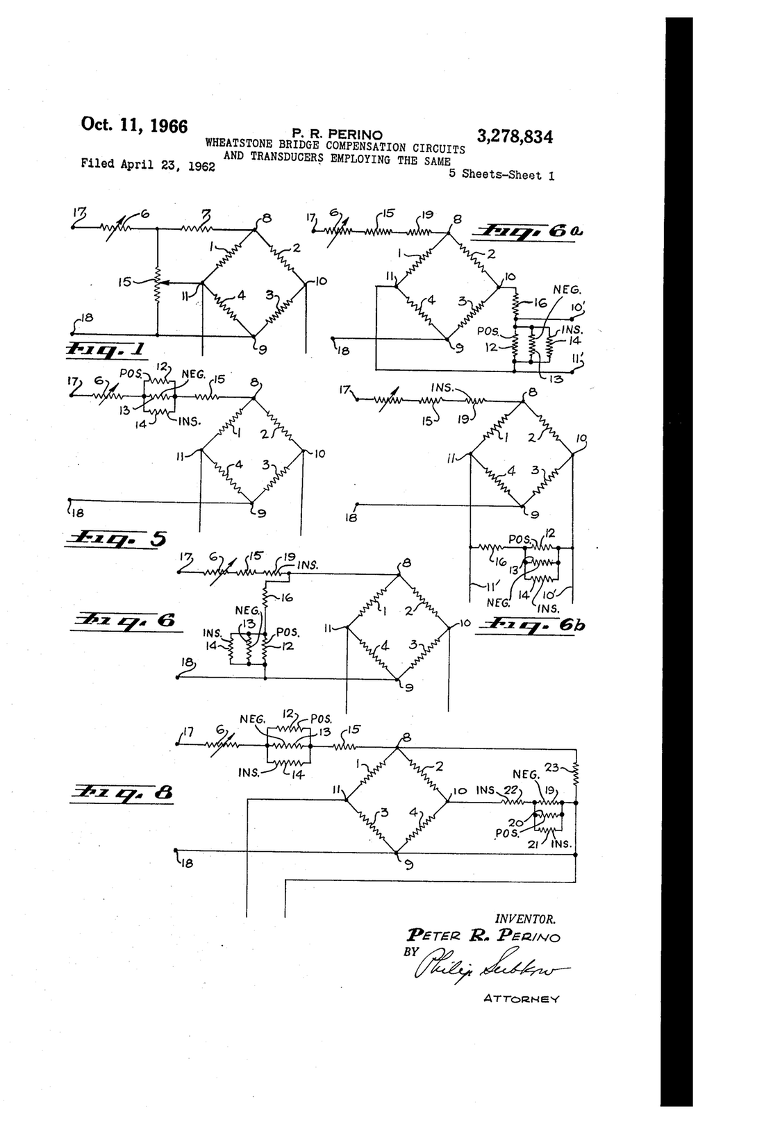 Resistor Drawing At Free For Personal Use Circuit Diagram 1100x1616 Patent Us3161821 Wheatstone Bridge Transducer Circuits