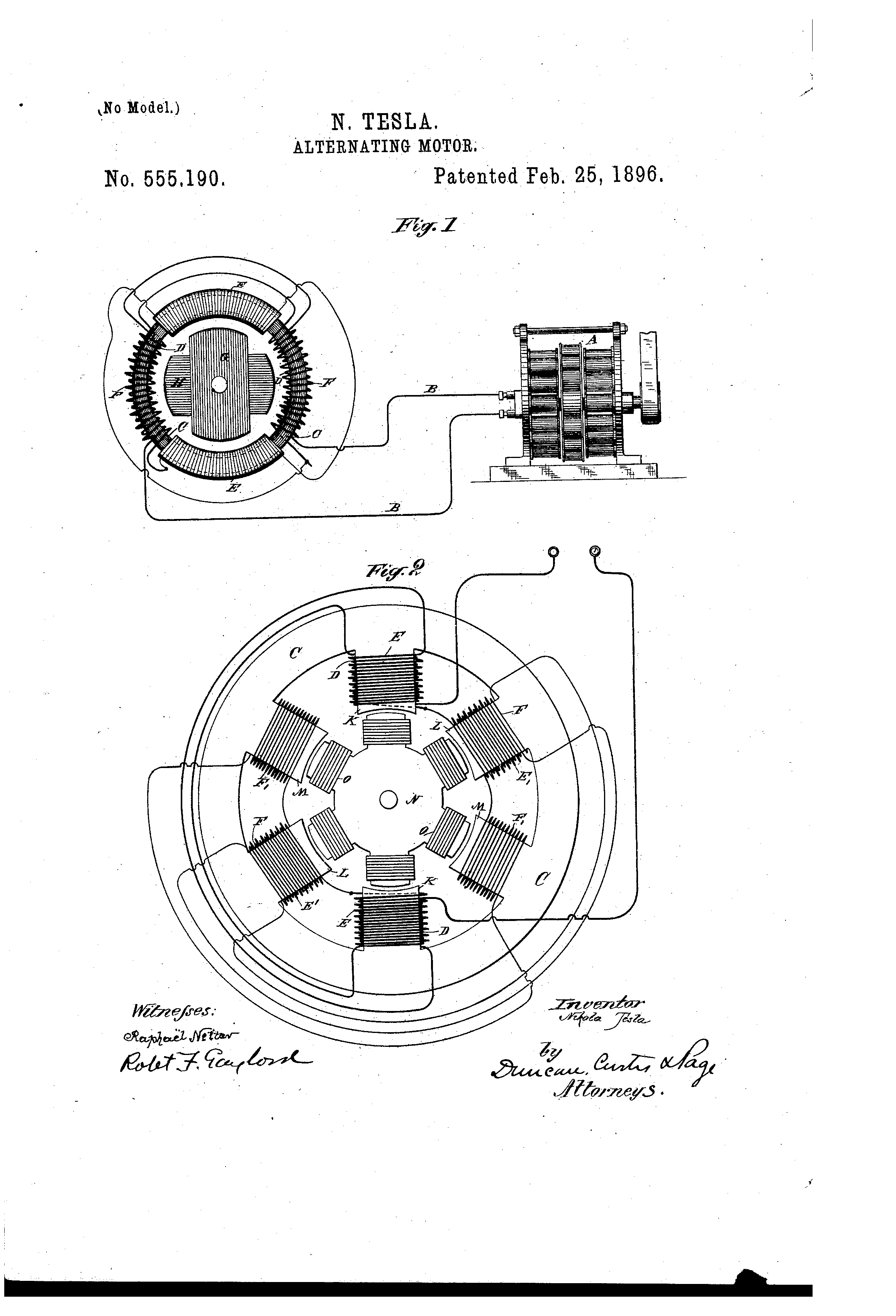Resistor Drawing At Free For Personal Use Alternating Current Diagram 2320x3408 Patent Us555190 Motor Google Patents Wiring