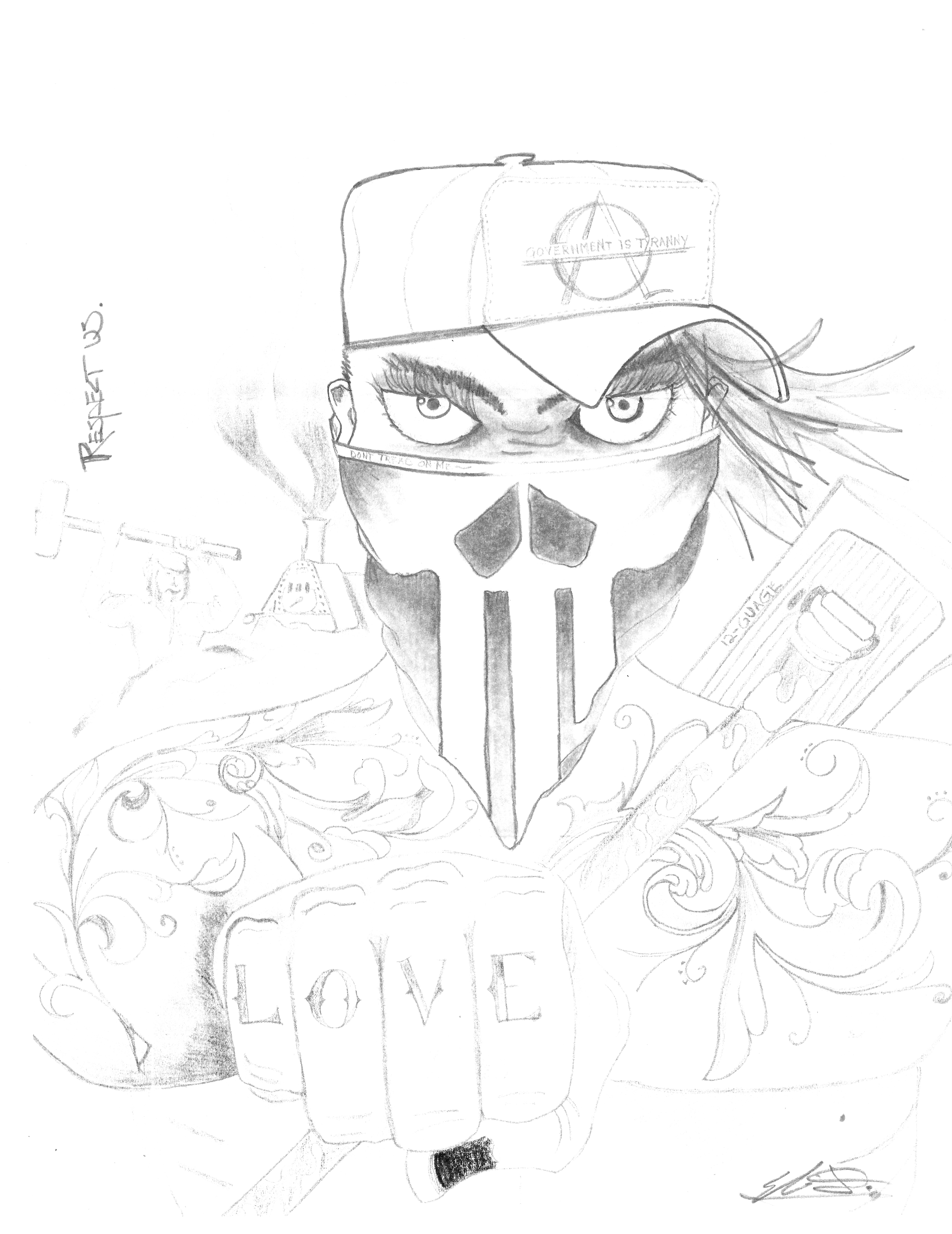 5063x6563 Respect Us! 3 Drawings From An Amerikan Mutt Amplify Voices Inside