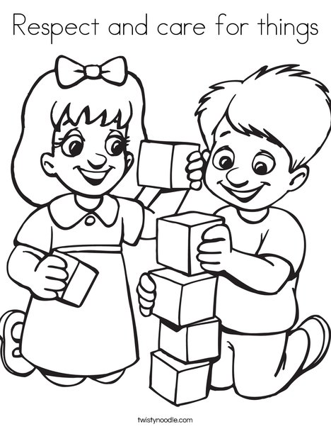 468x605 Respect And Care For Things Coloring Page