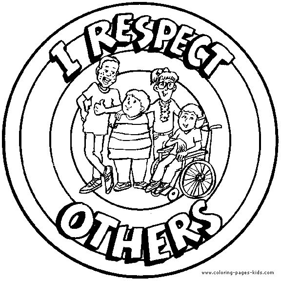 576x576 Character Education Coloring Pages Free Murderthestout Respect