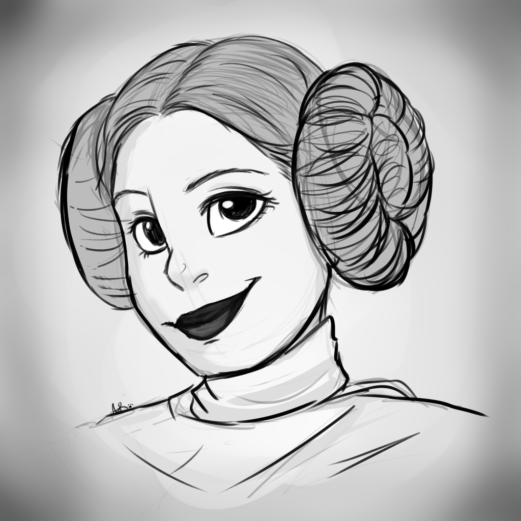 1024x1024 Rip Carrie Fisher By Annakitsun3