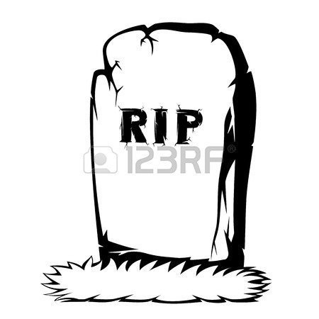 450x450 Silhouette Of Grass The Gray Gravestone With Rip Black