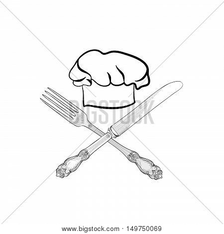 450x470 Chef Cook Hat Fork Knife Hand Vector Amp Photo Bigstock
