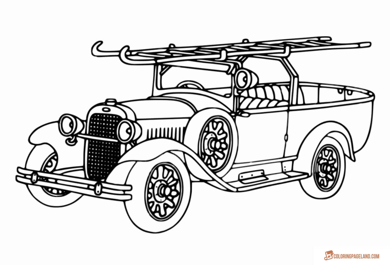 1280x870 Fire Truck Coloring Pages