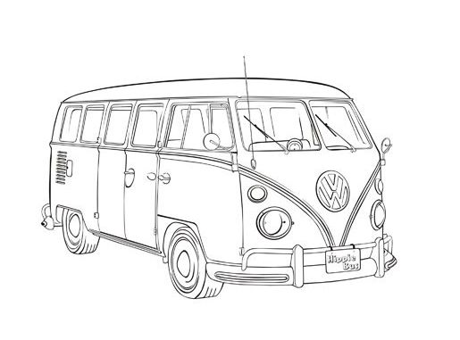 515x381 Vintage Car Coloring Pages Vw Type 2 Poster Vw