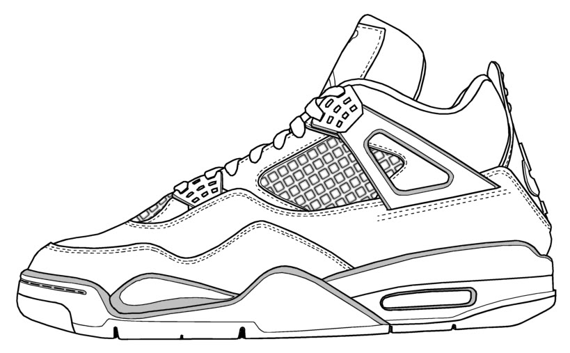 819x507 Drawing Of Retro Jordans Model Aviation