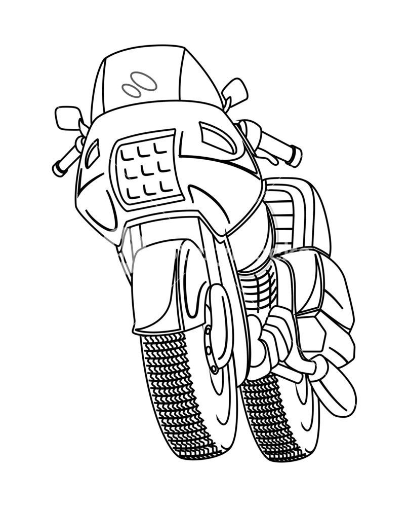 808x1000 Retro Drawing Sports Bike Royalty Free Stock Image