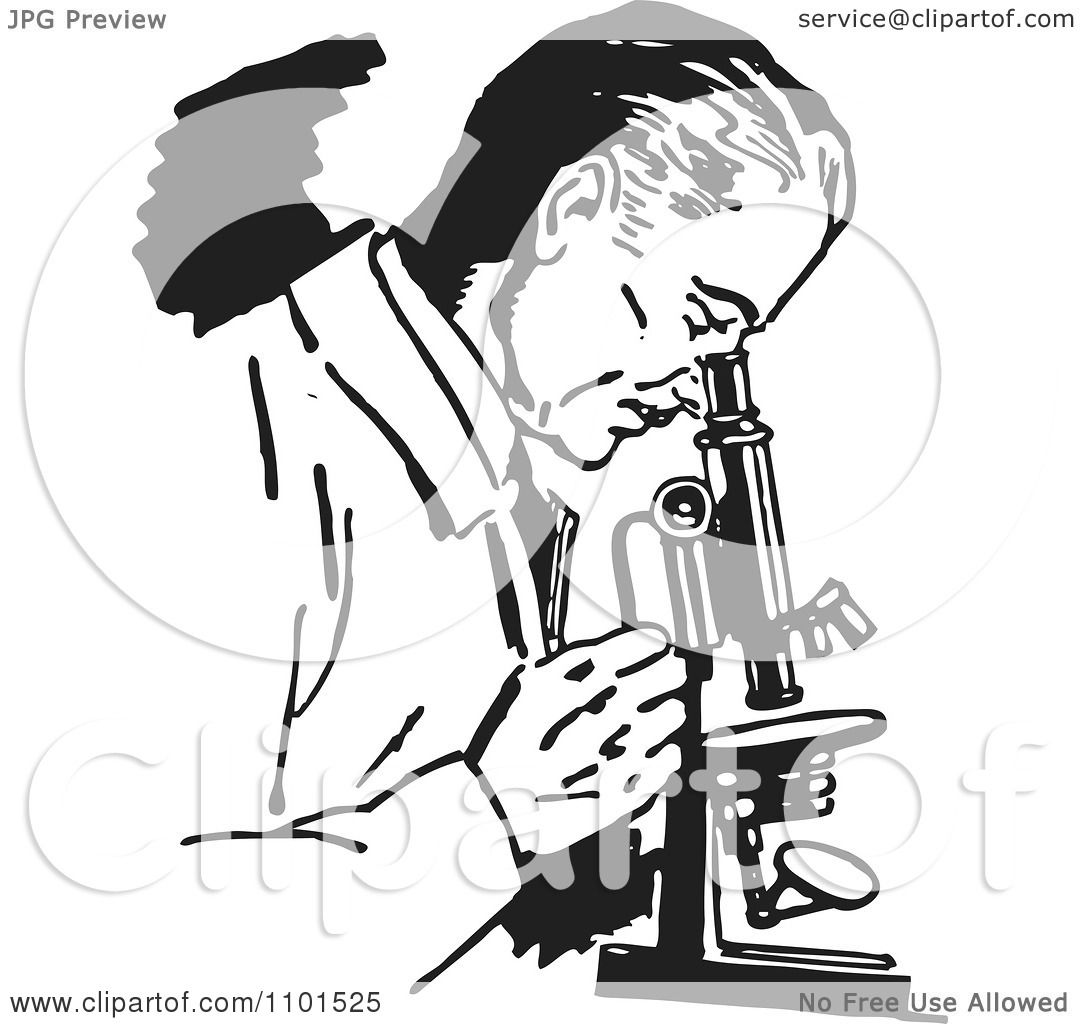 1080x1024 Scientist Clipart Retro